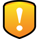 security, protect, warning Goldenrod icon