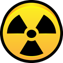 dangerous, danger, Radioactive, Alert, hazard Gold icon