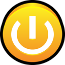 off, turn off, on, switch, stand, power, by Goldenrod icon