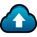 Data, save, sync, Up, backup, Cloud, upload Black icon