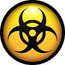 Adware, malicious, virus, danger, malware, Biohazard Black icon