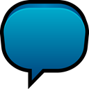 Blank, Message, talk, Balloon, Chat DarkCyan icon