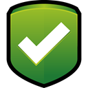 protect, shield, ok, tick, security OliveDrab icon