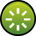 power, restart, spark OliveDrab icon