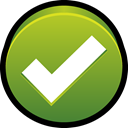 normal, ok, Check, Go, verified YellowGreen icon