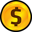 cent, ecommerce, Currency, coin, quarter, Price, Dollar Orange icon