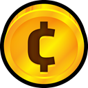 coin, Finance, Dollar, cent, financial, Currency, payment Orange icon