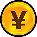 payment, yen, coin, Finance, japan, Currency Orange icon