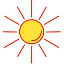 sun, Sunny, hot, weather Black icon