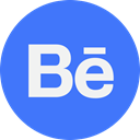 Behance RoyalBlue icon
