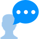 Chat DodgerBlue icon