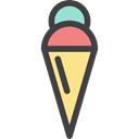 Food And Restaurant, Ice cream, Dessert, sweet, summer, Summertime, food Black icon