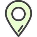 map pointer, Map Location, Maps And Location, placeholder, signs, Maps And Flags, pin, Map Point LightGoldenrodYellow icon