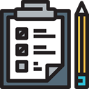 pencil, notepad, Checklist, Business And Finance Black icon