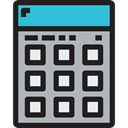 technology, Calculating, maths, Technological, calculator, electronics Silver icon
