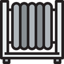 Heater, temperature, climate, Furniture And Household, technology, Climatization Black icon