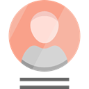interface, user, Social, people, profile, Avatar LightSalmon icon