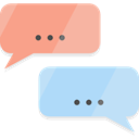 Multimedia, Communication, interface, Chat, speech bubble, Conversation LightSalmon icon