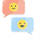 Multimedia, Chat, Communication, Conversation, interface, speech bubble Black icon