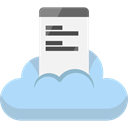 Cloud storage, mobile phone, cellphone, Multimedia, smartphone, Data Storage, technology, file storage, Cloud computing LightBlue icon