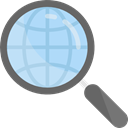 magnifying glass, zoom, Loupe, Tools And Utensils, search, detective Black icon
