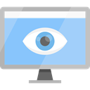 screen, technology, television, Tv, monitor LightSkyBlue icon