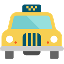 Automobile, Car, transportation, Cab, taxi, transport, vehicle SandyBrown icon