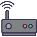 Modem, wi-fi, wireless, technology, internet, Connection Gray icon