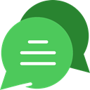 Chat MediumSeaGreen icon