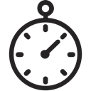 Chronometer, Fast, timer, quick, stopwatch Black icon