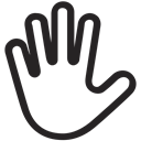 Interaction, Hand, stop, Gestures, touch Black icon
