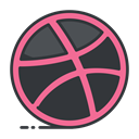 online, Social, network, media, internet, dribbble DarkSlateGray icon