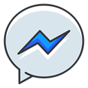 Communication, Social, Messenger, network, Facebook, media Lavender icon