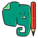 online, Social, network, media, internet, Evernote DarkCyan icon
