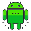 Social, software, media, network, Android, smartphone LimeGreen icon