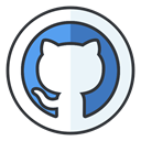 Social, internet, Github, online, media, network AliceBlue icon