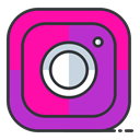 internet, Social, media, Instagram, Communication, network, online DeepPink icon