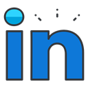Social, profession, Communication, media, network, Linkedin, online DodgerBlue icon