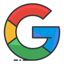 search, media, google, Social, network Black icon