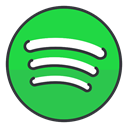 Spotify, media, network, entertainment, Communication, Social LimeGreen icon
