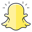 Snapchat, Social, network, media, Communication Khaki icon
