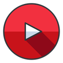 youtube, Social, media, network, video, entertainment Crimson icon
