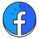 Social, Communication, media, Facebook, network DodgerBlue icon