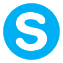 Social, Chat, Call, Connect, video, Skype DeepSkyBlue icon