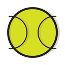 Game, tennis, sports, play, Ball, sport Gold icon