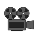movie, Camera, tape, Projector, film, screening Black icon