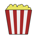 food, snack, popcorn, movie, Theater Brown icon