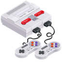 Super, super nintendo, tes, super nes Black icon