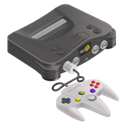 n64, nintendo 64, tes Black icon