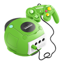 nintendo, Gamecube, gamesphere YellowGreen icon